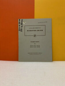 Krohn hite Ultra low Frequency Band pass Filter Instructions