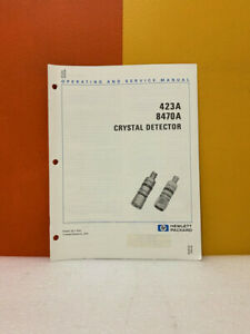 Hp 00423 90019 423a 8470a Crystal Detector Operating And Service Manual