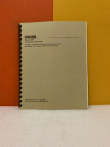 Keithley 220 901 01c Model 220 Programmable Current Source Instruction Manual