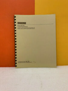 Keithley 220 900 Rev A Model 220 230 Programmable Sources Programming Manual