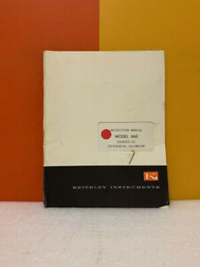Keithley Model 660 Guarded Dc Differential Voltmeter Instruction Manual