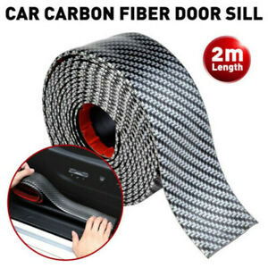 Parts Carbon Fiber Cars Door Plate Sill Scuff Cover Anti Scratch Sticker 2m