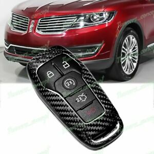 Real Carbon Fiber For Ford Mustang Edge F150 Fusion Remote Key Shell Cover Case