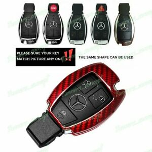Real Red Carbon Fiber Remote Key Shell Cover For Mercedes Benz W203 W210 W211
