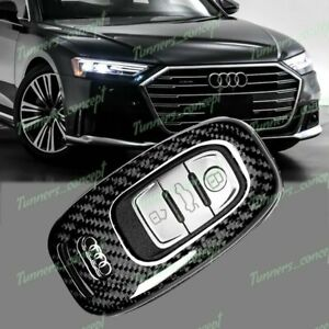 100 Real Carbon Fiber For Audi S3 S5 S6 R8 Tt Q3 Q5 Remote Key Shell Cover Case