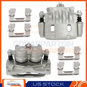 2x Brake Front Calipers With Bracket Kit For 2003 2018 Subaru Forester