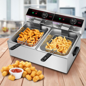 5000w Dual Tank Electric Countertop Deep Fryer Brand New And High Quality
