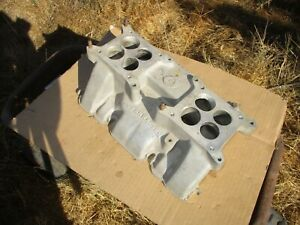 Offenhauser 2x4 Buick 322 Intake Manifold Dual Quad 3412