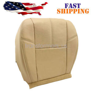 For 2007 14 Chevy Silverado 1500 2500 Hd Driver Bottom Leather Seat Cover Tan