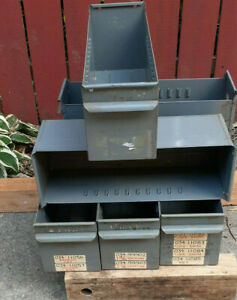 Vintage Equipto Usa Metal Drawers 6 Industrial Duty Large Deep Lot Of 6 8562