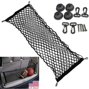 Car Rear Trunk Cargo Net Mesh Storage Organizer Parts Accessories Universal
