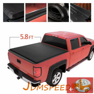Roll Up Tonneau Cover Fits For 2007 2013 Chevy Silverado Gmc Sierra 5 8 Bed