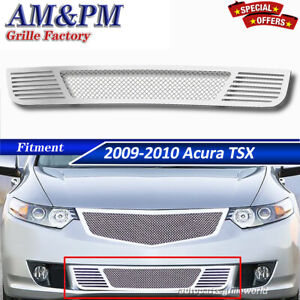 Fits 2009 2010 Acura Tsx Stainless Steel Mesh Grille Grill Insert Chrome Bumper
