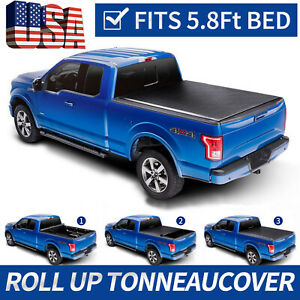 Roll Up Tonneau Cover For 2007 2013 Chevrolet Silverado Gmc Sierra 1500 5 8 Bed