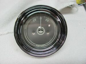 Stewart Warner Mahogany Boat 3 5 Inch Silver Face Amp Meter Curved Glass 1946