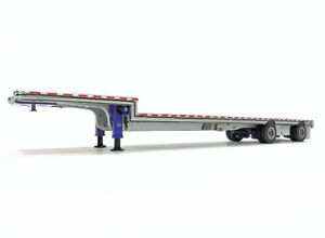 East Step Drop Deck Aluminum Trailer Blue Weiss Bros 1 50 Scale 027 1703 New