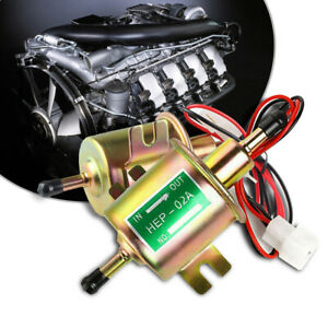 Universal 12v 2 5 4 Psi Gas Inline Low Pressure Electric Fuel Pump Hep02a He