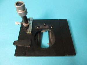 Leitz Wetzlar Adjustable Table stage W Slide Clip From Dialux 020 Microscope