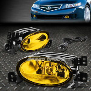 For 06 08 Acura Tsx Amber Lens Front Bumper Driving Fog Light Lamps W Switch