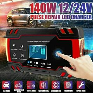 New Car Battery Charger 12v 24v Volt Motorcycle Battery Repair Type Agm Charger