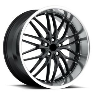 20 Inch Bmw Gt1 Wheels Rims 528 535 540 550 Staggered Gloss Black 5x120 Lugs