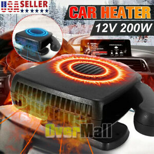 Dc 12v 200w Portable Car Ceramic Heating Heater Fan Window Defroster Demister
