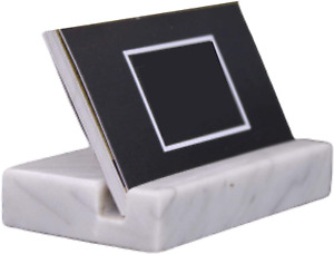 Business Card Holder Marble Desktop Organizers Accessories Display Stand