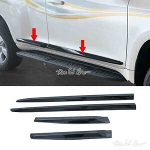 Glossy Black Outside Door Body Side Molding Trim For Toyota Prado Fj Lc150 18 20