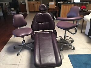 Adec 1040 Dental Chair And Dentalez Stools