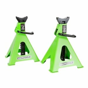 Oemtools 24853 6 Ton Jack Stands Min Height 15 3 4 Max Height 24 3 8 Recessed