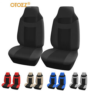 Front High Back Seat Covers Bucket Seat Protector Strong Stretchy For Most Cars