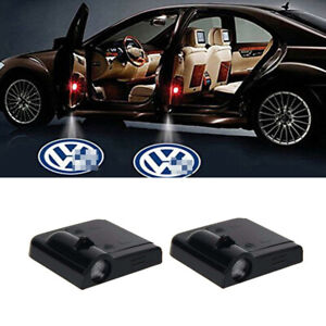 Car Projection Led Projector Door Shadow Welcome Wireless Light 2pcs For Vw