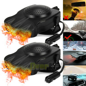 2x 12v Car Auto Portable Electric Heater Heating Cooling Fan Defroster Demister