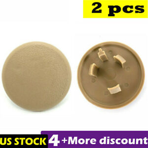 1 Pair Beige Rear Armrest Seat Bolt Cover Cap Fit For 07 18 Tahoe Gmc Yukon Xl