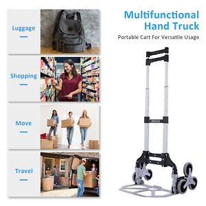 Winice Stair Climber Truck Portable Folding Trolley Adjustable Handle Cart 170lb