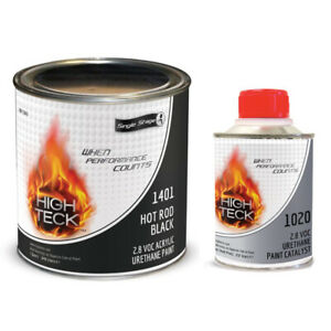 Hot Rod Black Single Stage Gallon And Quart Kit High Teck 2k Low Gloss Paint