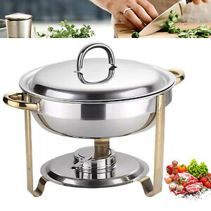 4l Stainless Steel Warming Container Chafing Dish Warmer Buffet Food Insulation