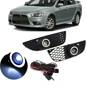 For Mitsubishi Lancer 08 15 Fog Lights Lamp New Bumper Driving Clear Wiring