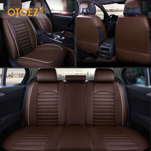 Leather Car Seat Cover Universal 5 Seat Full Set Separately Bench Cushion Cover