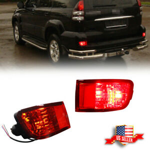 2x Led Rear Bumper Reflector Tail Brake Stop Lights Kit For 03 05 Toyota 4runner