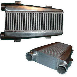 Universal Single Turbo Intercooler 19 75 x12 x3 5 2 5 Same Side Inlet outlet