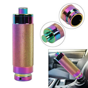 Jdm Neo Chrome Aluminum Car Handle Hand Brake Sleeve Universal Fitment Cover