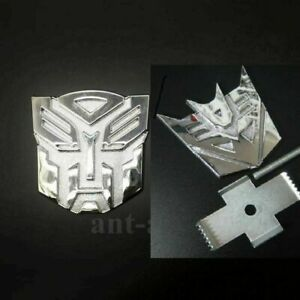 1x New Transformers Autobot decepticon Grill Badge Metal Chrome For Front Emblem