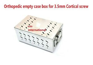 Orthopedic Empty Case Box For 3 5 Mm Cortical Screw Stainless Steel Best Quality
