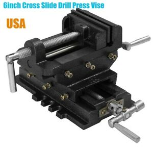 6 Inch Cross Slide Drill Press Vise Metal Milling Vice 2 way X y Clamp Machine