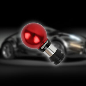 Universal Mugen Round Ball Red Aluminum Automatic Gear Shift Knob Lever Shifter