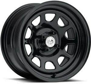 U S Wheel 022 5812pblk Painted Daytona Fwd Drifter Black 15 X 8 5 X 45 Bolt Cir