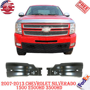 Front Bumper End Extensions Pair For 07 2013 Chevy Silverado 1500 2500hd 3500hd