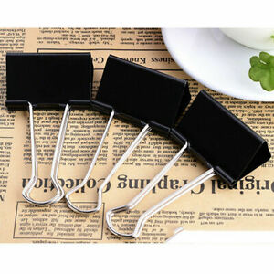 Binder Clips Cute Dovetail Black Paper Clips For Notes Letter