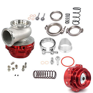 Turbo Combo Turbo Blow Off Valve Bov 50mm Waste Gate Mvr 44mm W Hardwares Red
